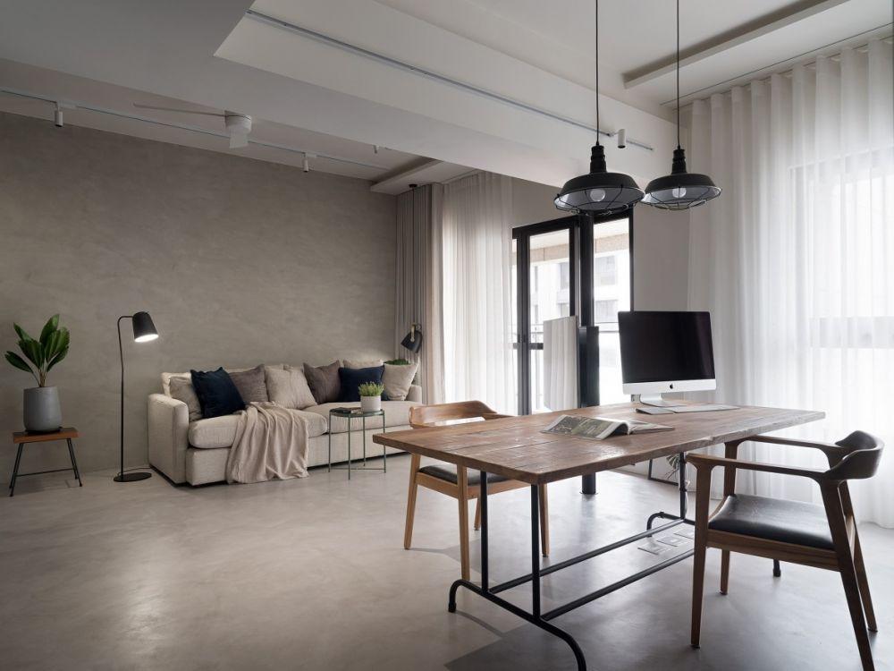 捨去不必要的裝潢與牆面,26坪也可以寬廣舒適