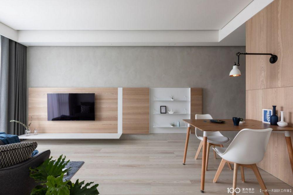 層板+吊櫃 小客廳也能有超大收納量