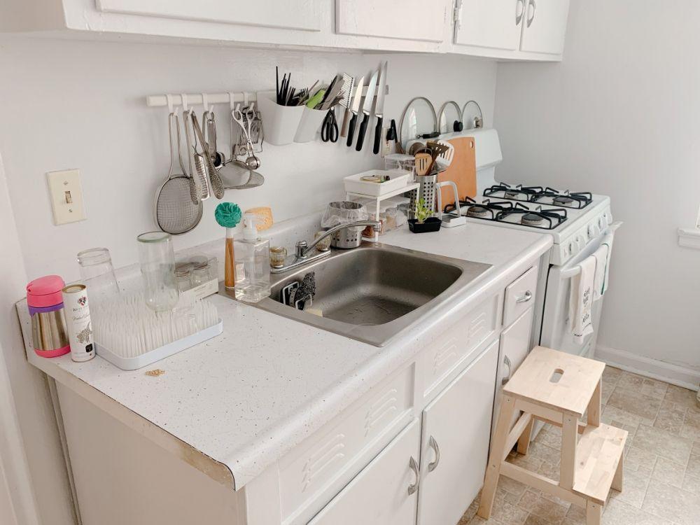 素人分享@一字型廚房設計的極致擴充