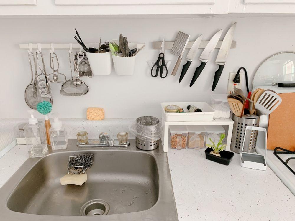 素人分享@一字型廚房續篇:小廚房極大化收納
