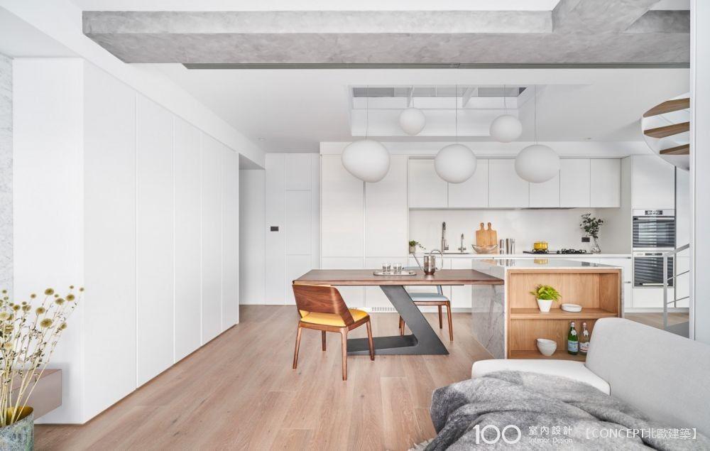 讓天然日光成為你一天的力量,北歐LOFT雙層公寓串聯輕暖日常