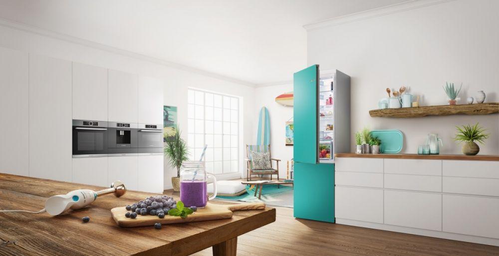 開放式廚房新寵!可更換門片色彩的冰箱讓家更亮眼!