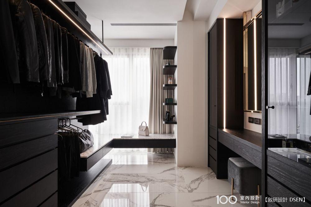 活用系統櫃體,打造高收納更衣室!