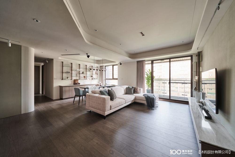 30坪客變屋擁超寬敞客餐廳,溫潤大地色系我家超耐看
