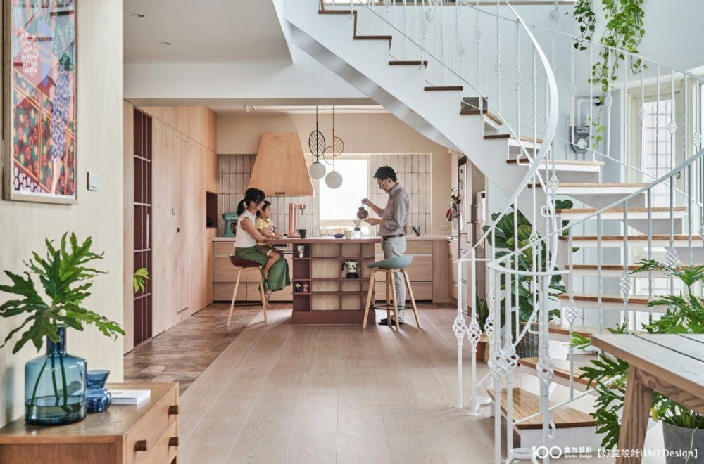 拆除隔間讓家更寬敞通透,專屬一家三口的日光小屋