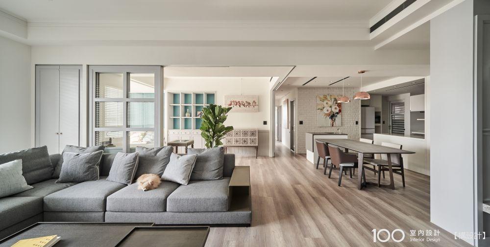 無障礙設計+優雅藍灰調,1人1狗的50坪退休宅好好住!
