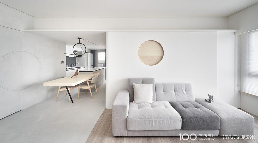【設計師談設計】擁3房的17坪灰白透亮小宅,用回字動線滿足一家四口的生活