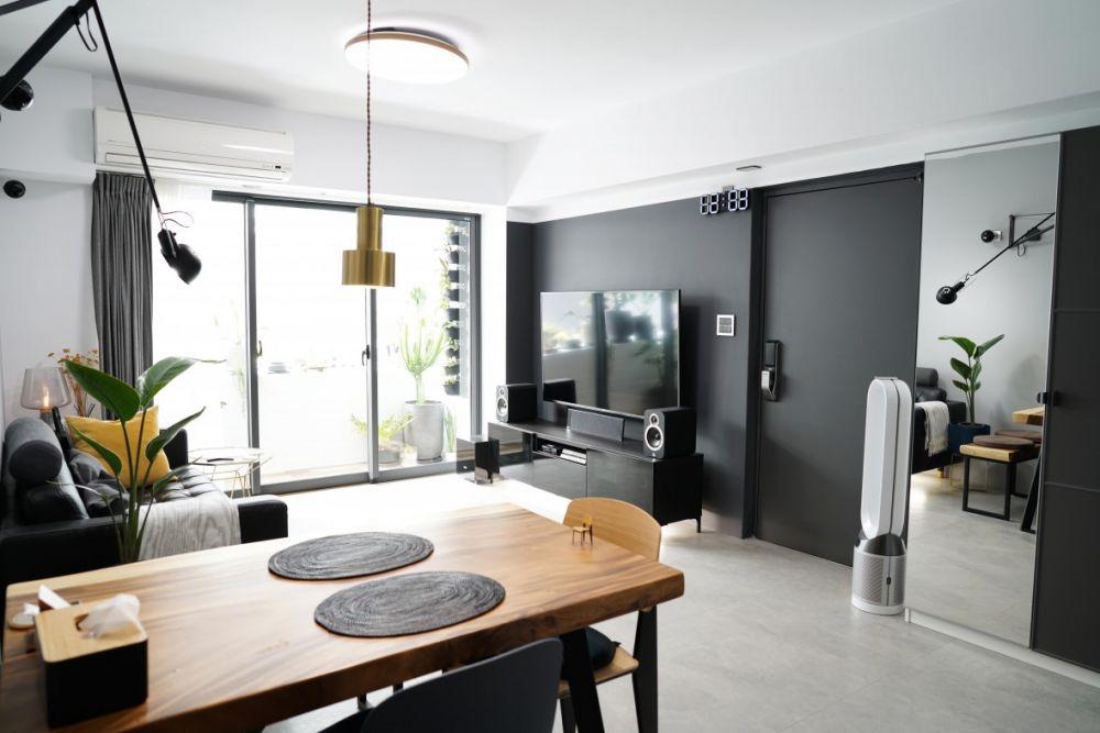 化身設計師親手打造自己的家!25坪超質感簡約墨黑宅開箱