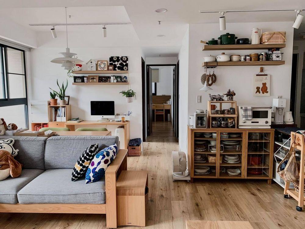 《小家微開箱》活用日系家具,打造MUJI無印小客廳