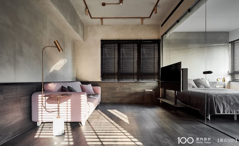 地坪延伸+玻璃隔間,最強小空間放大術