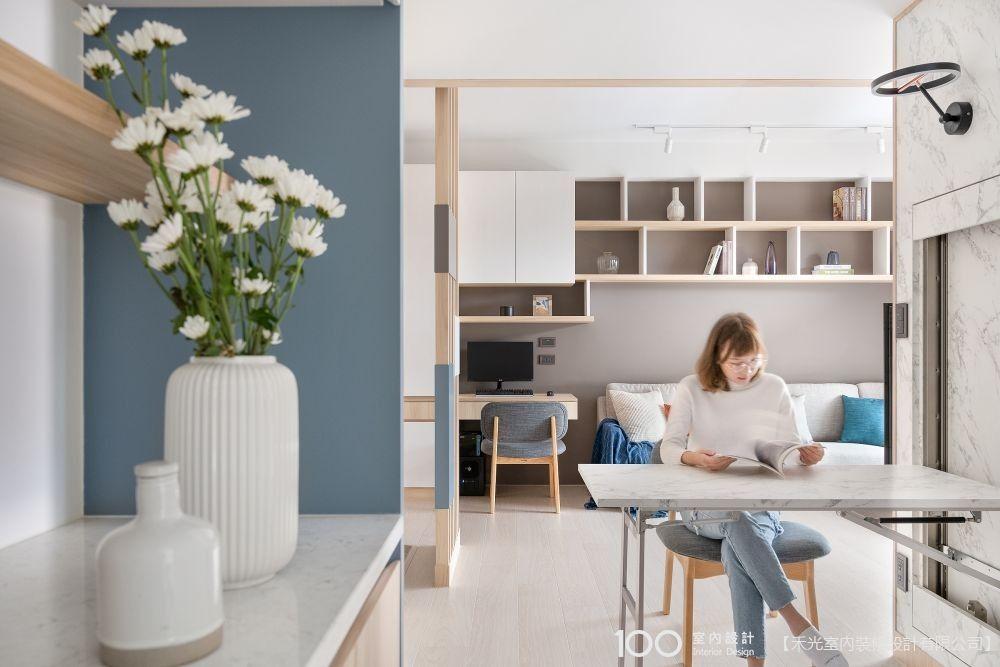 複合式桌椅好用又省空間,不做書房也可以!