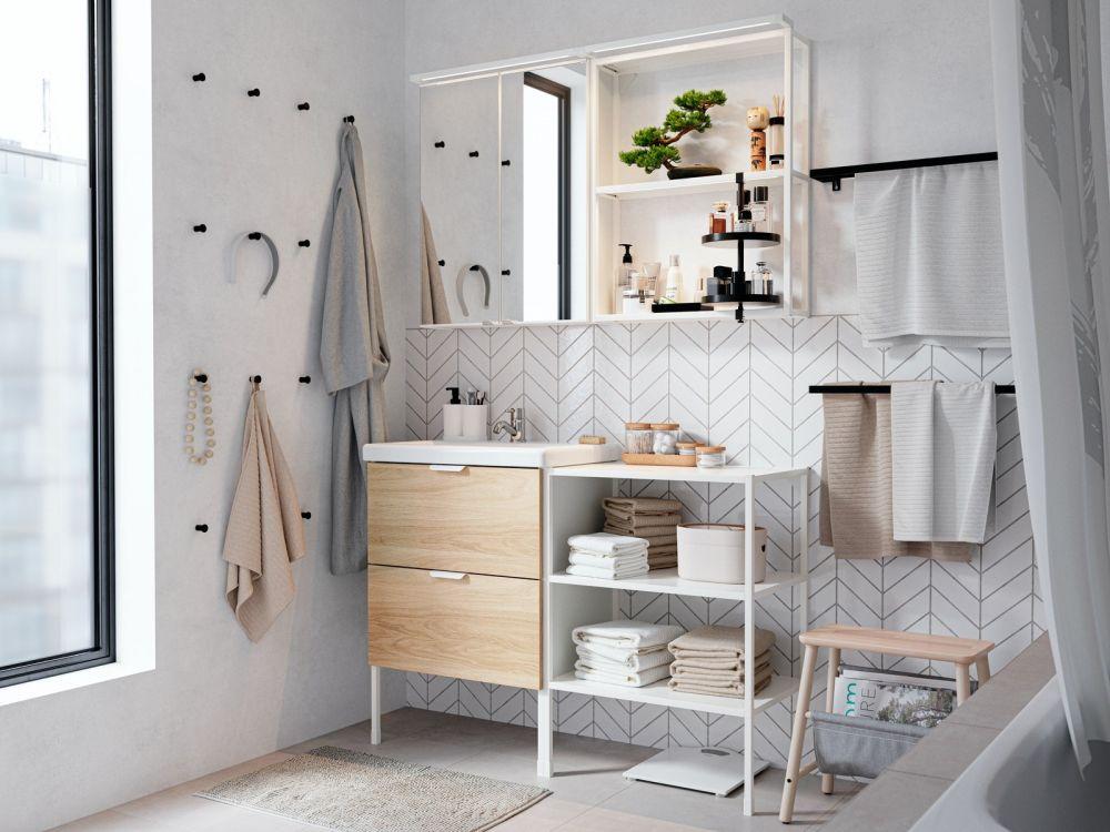 衛浴裡的IKEA好物推薦,一秒收齊雜亂瓶罐!
