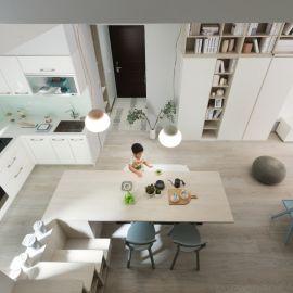 適合親子的北歐風格!小宅也能擁有開放式廚房