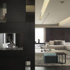 細緻與冷抽象 現代風 新成屋