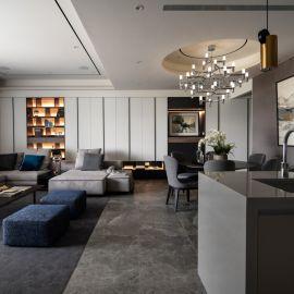 簡約線條藏收納、現代美學住宅