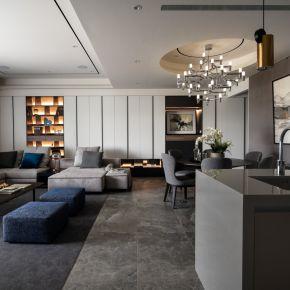 簡約線條藏收納、現代美學住宅 現代風 中古屋