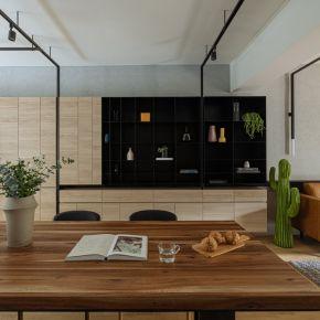 現代藍調 工業風 老屋翻新