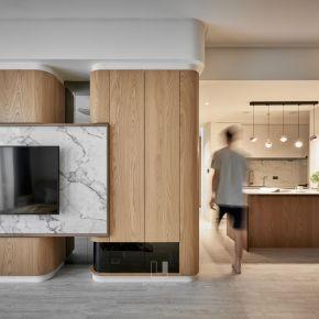 有質感的同時不失機能,在雅奢格調中享受創意 現代風 老屋翻新