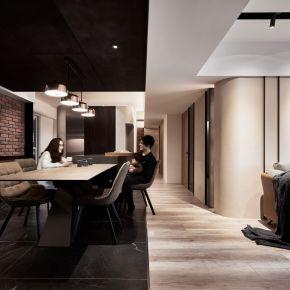 為結構賦予姿態,調和生動的空間表情 現代風 中古屋