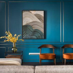英倫紳士藍 古典風 新成屋