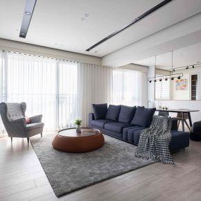 寫系統傢俱新靈魂!40 坪簡約純淨日光親子宅 現代風 新成屋