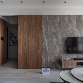 靜.境.木與石的和諧對話。 現代風 新成屋
