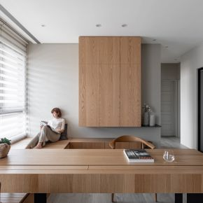 悠然閒適的日式現代 日式風 新成屋