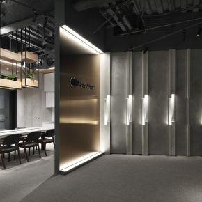金屬與光的流動 構築凝鍊空間 現代風 商業空間