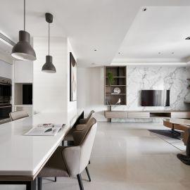 木質與石材紋理調和空間質性,生活如品茗,吟味著空間五感。