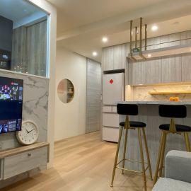 小夫妻新婚住宅,13坪毛胚屋打造全室木作超強收納機能