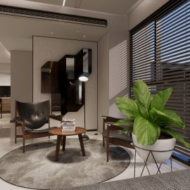灰階基調交織異材質 打造舒適現代質感宅