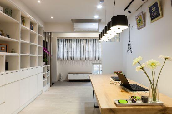 家與工作室的結合 - 現代風 - 21-35坪