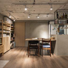 微裝修的26坪粗獷質樸宅 工業風 新成屋
