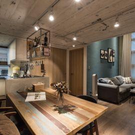 微裝修的26坪粗獷質樸宅