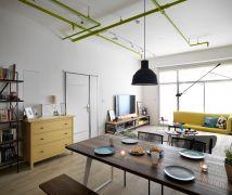 用跳色打開空間層次的27坪小宅 - 北歐風 - 21-35坪