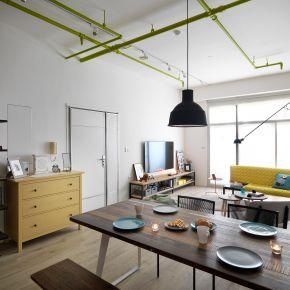 用跳色打開空間層次的27坪小宅 北歐風 老屋翻新