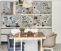 串聯客廳與餐廚的40坪清新宅 - 北歐風 - 36-50坪