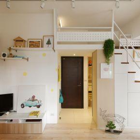 兩人一貓的15坪幸福寓 現代風 新成屋