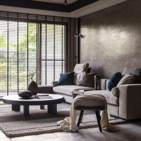 一抹深色洗鍊出一室的優雅 現代風 新成屋