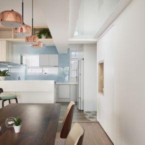 用線條幾何勾勒出四代同堂的溫馨 現代風 老屋翻新