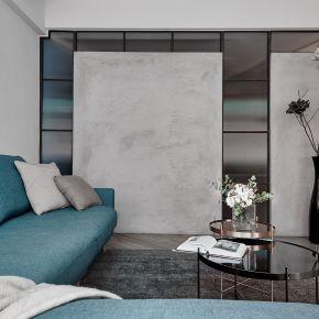 靜謐的藍色小宅 現代風 老屋翻新