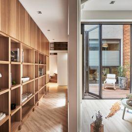 45坪的木質陽光宅
