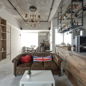 兩人享受28坪咖啡館風的家 工業風 新成屋