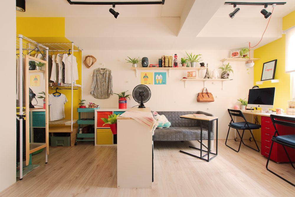 家具打造機能完全的10坪天光宅