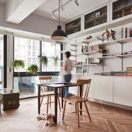 享受光影與綠意的mini home