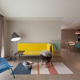 36坪色彩繽紛的親子宅