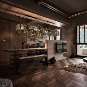 新店巴黎,享受relax的原始休閒 工業風 新成屋