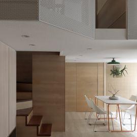 減法美學 日式簡約風複層新婚宅