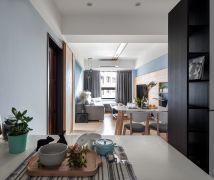 輕透藍與原木交會的北歐宅 - 北歐風 - 10-20坪