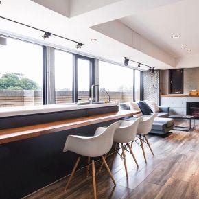 26坪狹長型陽光HOUSE 現代風 新成屋